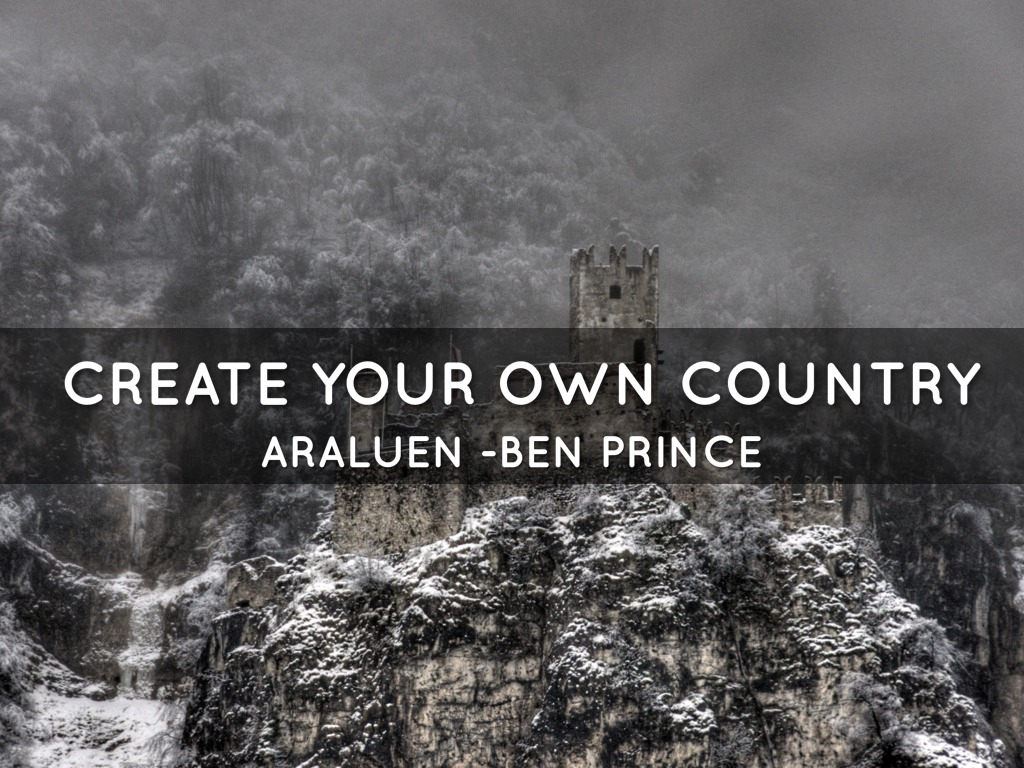 Create your own country project by lilly p for Create your own