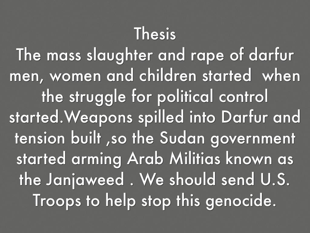 Darfur genocide thesis best personal statement writer sites au