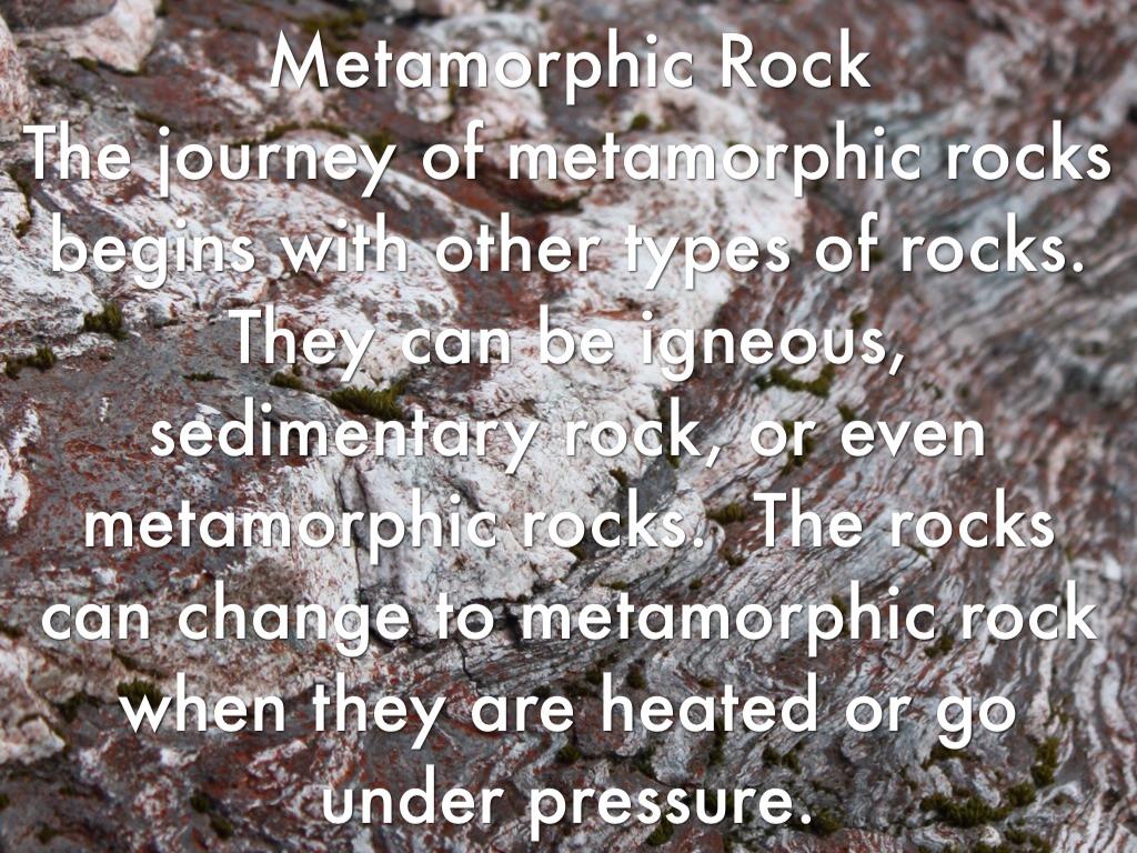 how to create a metamorphic rock
