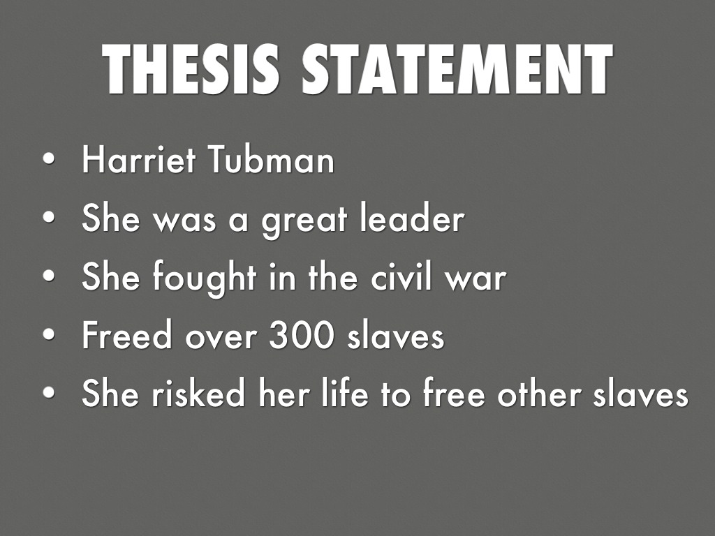 essay on harriet tubman According to mcgowan& kashatus harriet tubman: a biography this was the first instance in which harriet felt emboldened and wanted to rise against slavery.