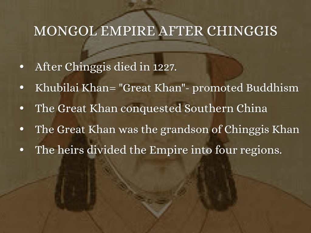 the history and rulers of the mongolian empire Mongolia's history is extremely long it spans over 5000 the mongols has   thanks to the fall of the manchu dynasty that controlled stopped a group of  mongol princes proclaimed the living buddha of urga to be ruler mongolians  have.