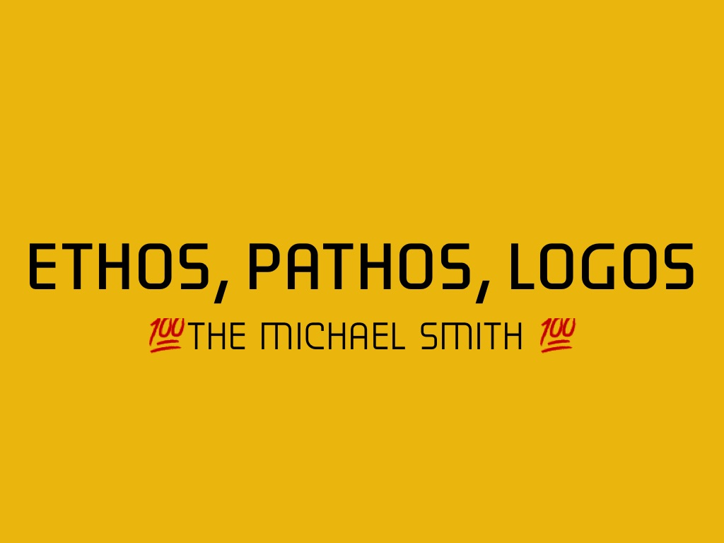 ethos outline Transcript of persuasive speech- pathos, ethos, and logos pathos, ethos, and logos a deeper analysis.