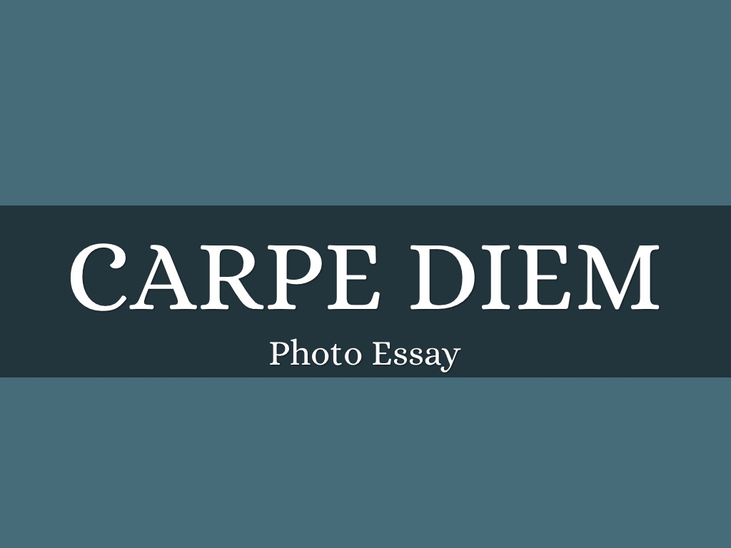 carpe diem by sandy wood slide notes