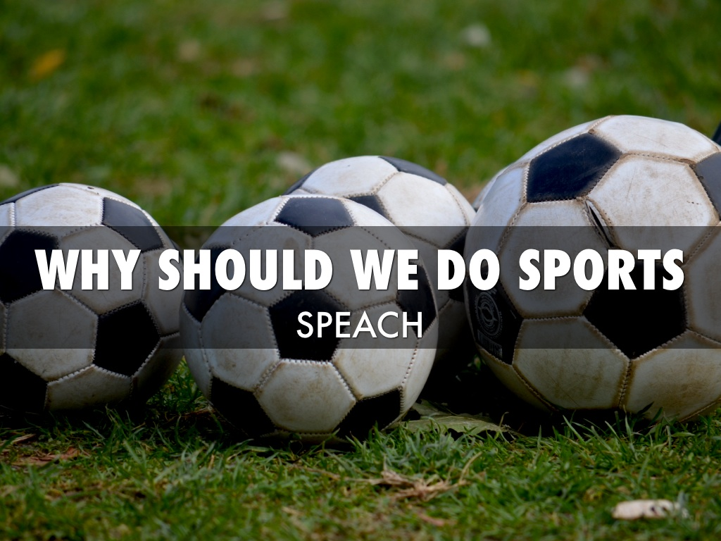 Why You Should Do Sports