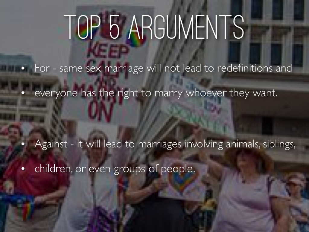 gay marriage arguments essay