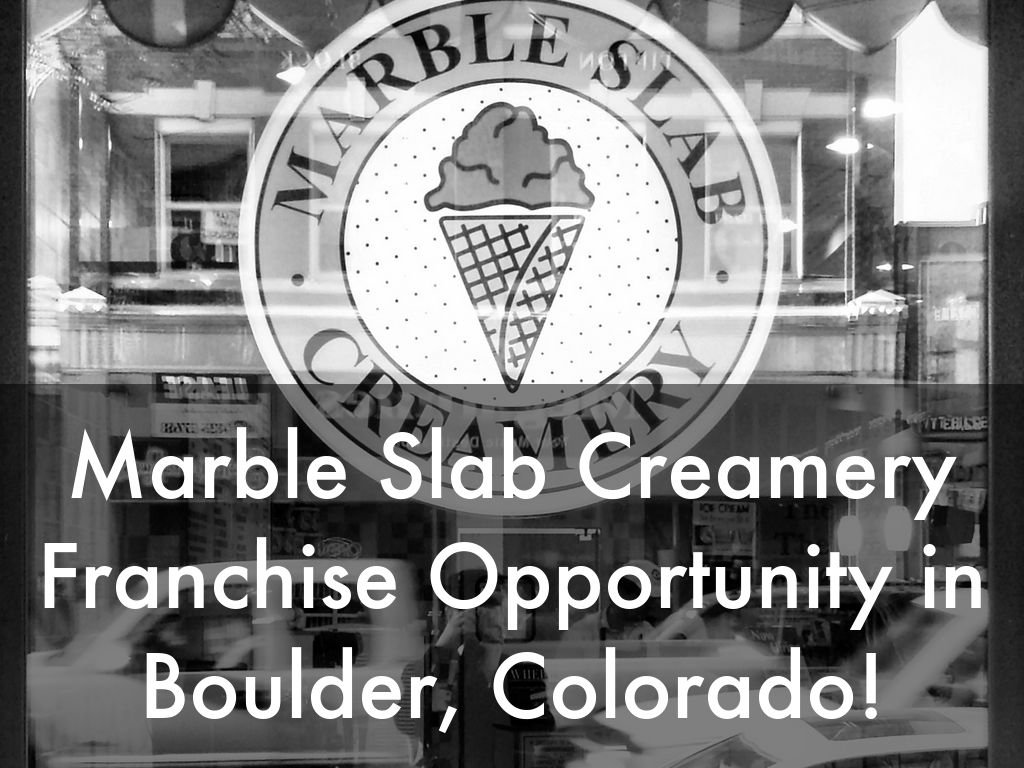 Marble Slab Creamery Opportunity in Boulder, Colorado!