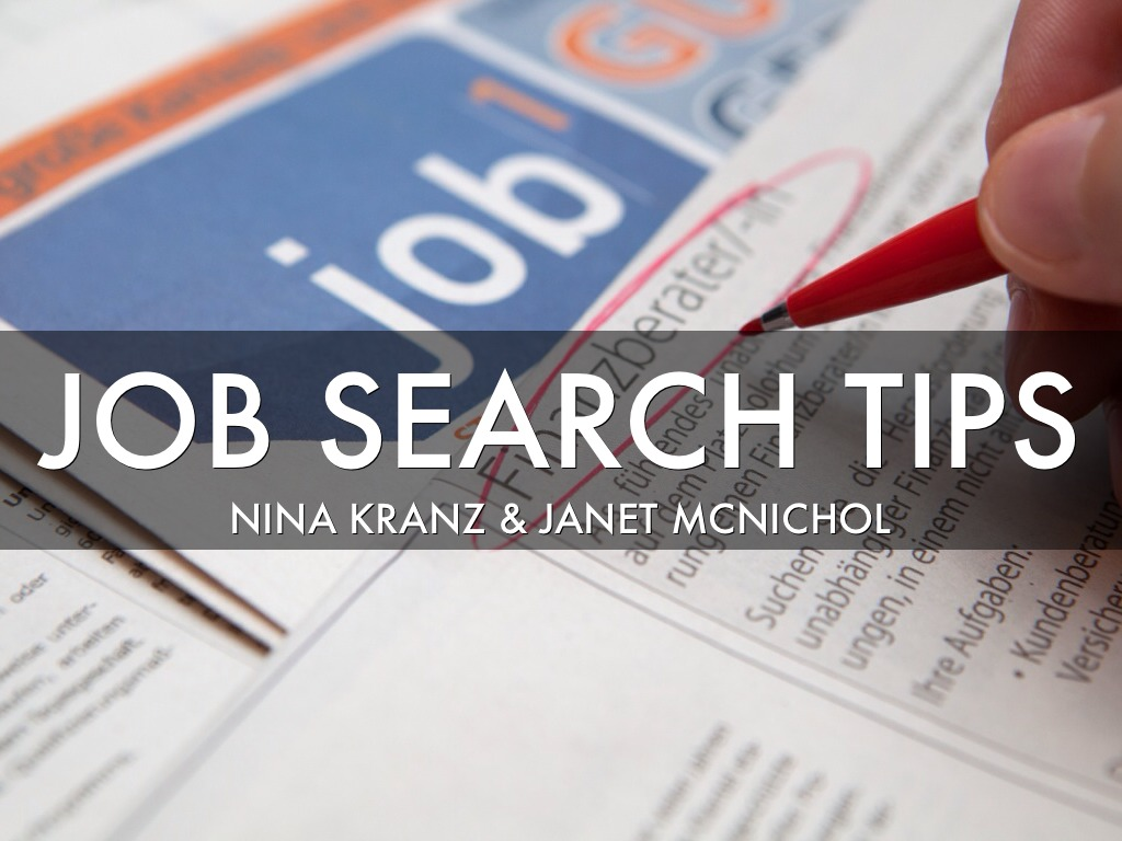 job search tips by janet mcnichol slide notes