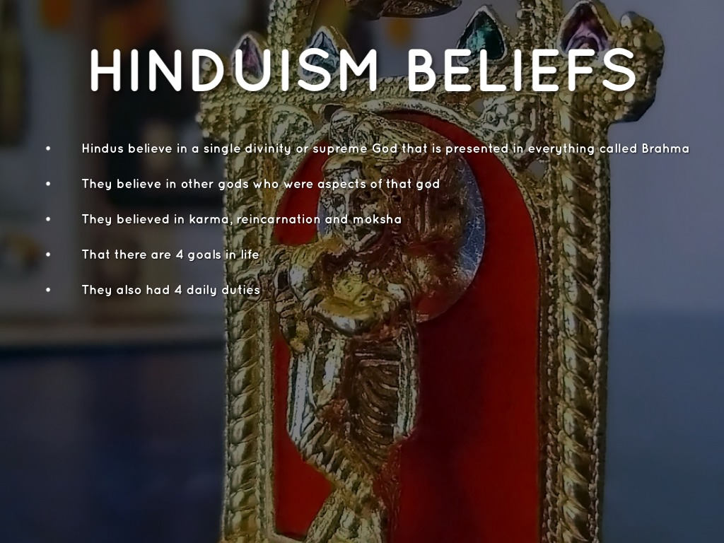 description of hindu beliefs about brah Brahma is the first god in the hindu triumvirate, or trimurti the triumvirate consists of three gods who are responsible for the creation, upkeep and destruction of the world the other two gods.