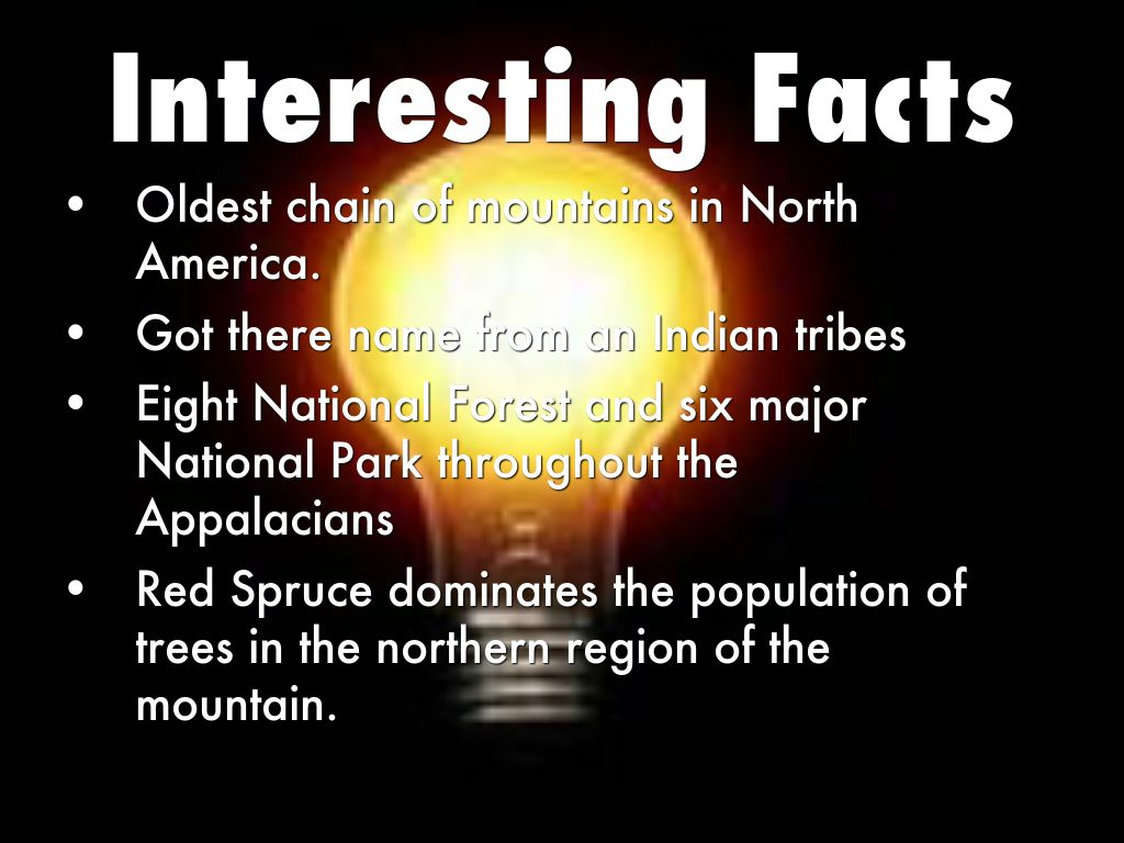 Appalachian mountains by n dinan for Interesting fact about america