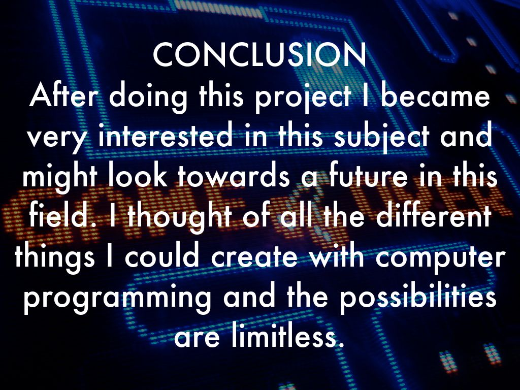 conclusion of computer project