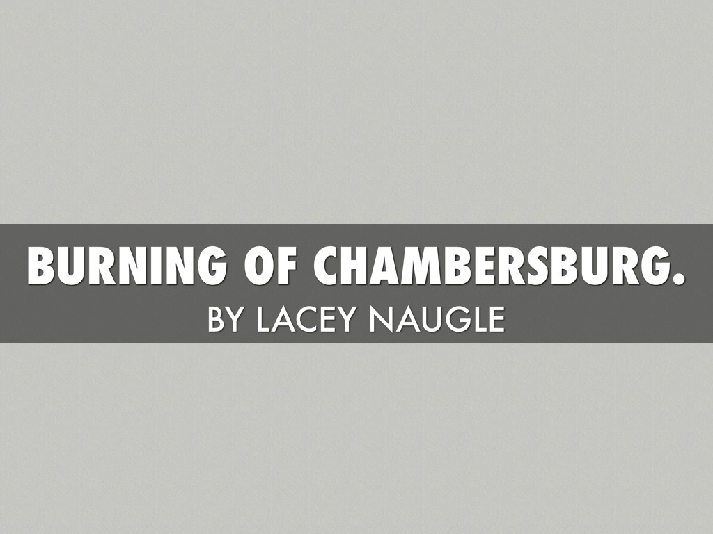 burning of chambersburg