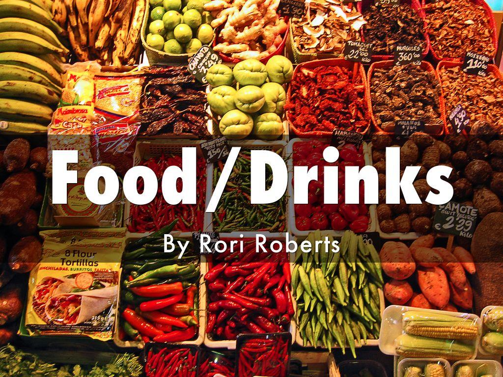 food drinks presentation