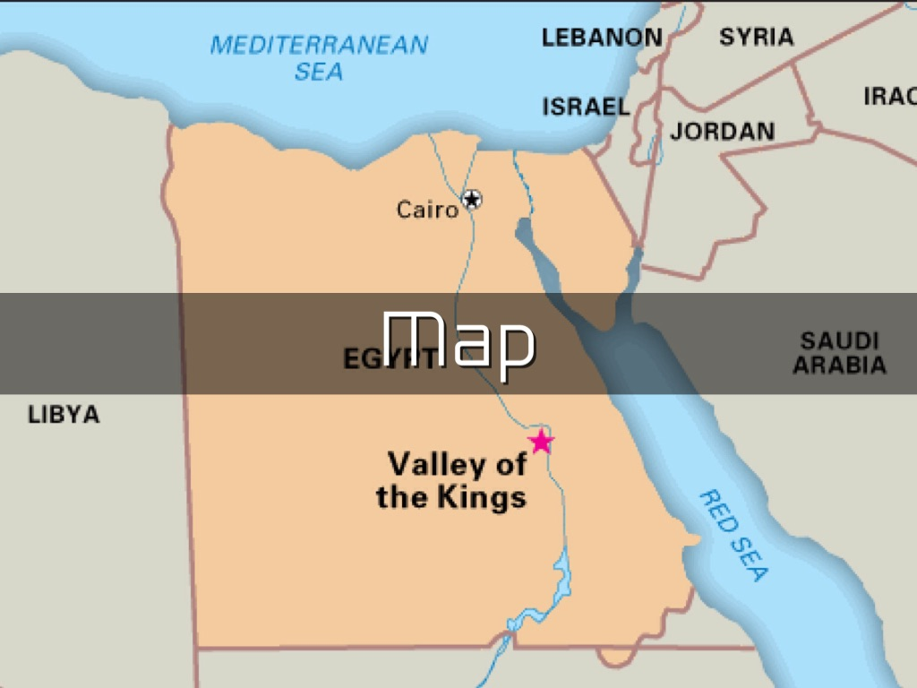 Ancient Egypt By Regina Villanueva - Map of egypt showing valley of the kings