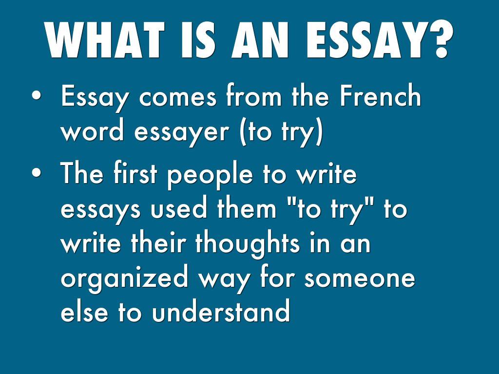 word essay in french Essay - traduction anglais-français forums pour discuter de essay, voir ses formes composées, des exemples et poser vos questions gratuit.