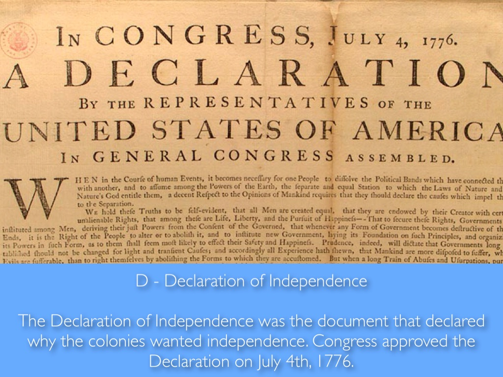now produce your own declaration of independence