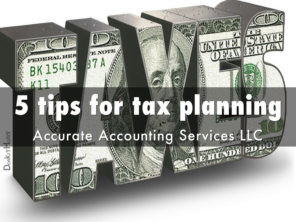 5 tips for tax planning