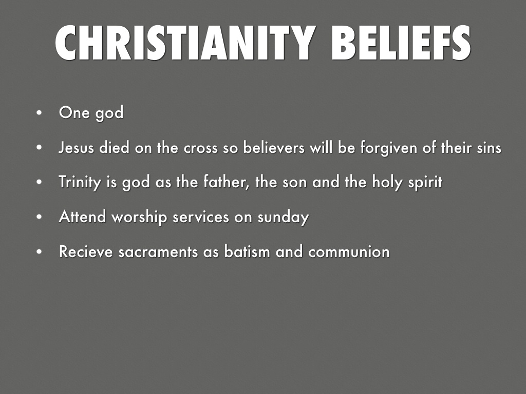 beliefs of christianity We believe in the present ministry of the holy spirit by whose indwelling the  christian is enabled to live a godly life (john 14:15-18 john 16:13 john 16:7-11 .