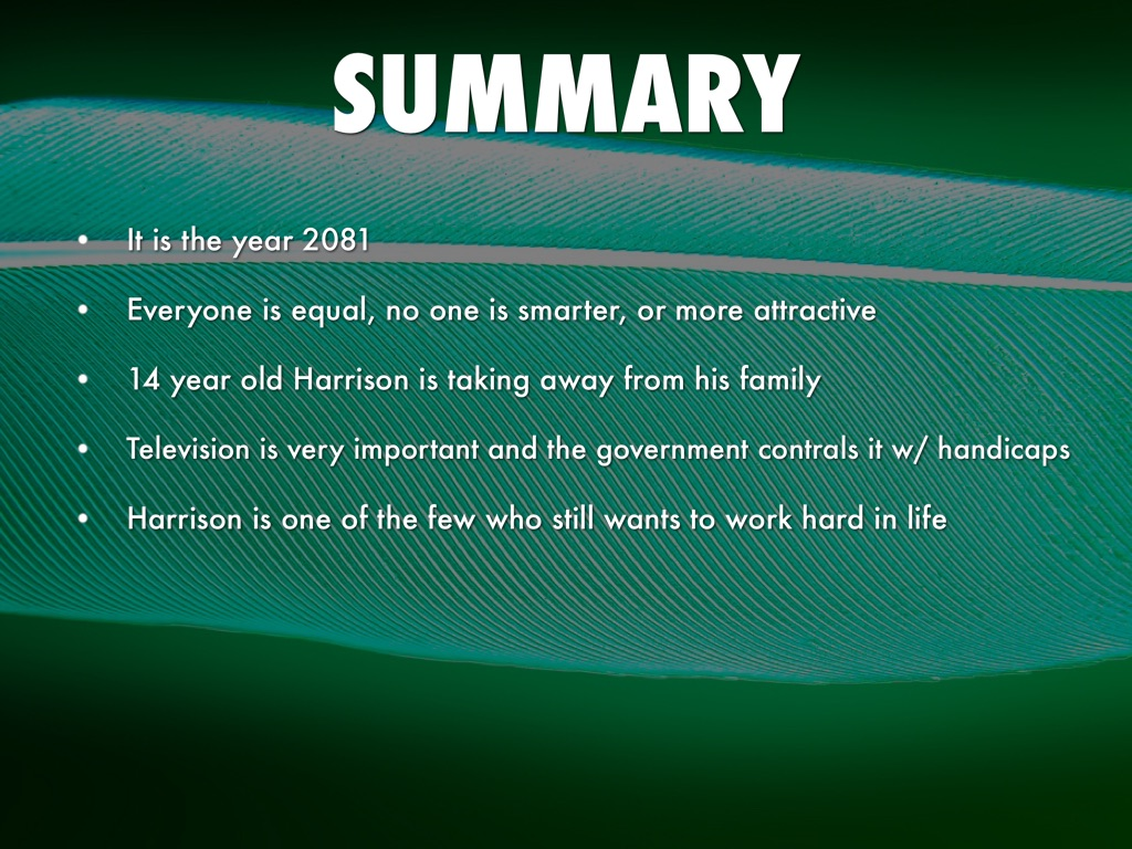 summary with harrison bergeron