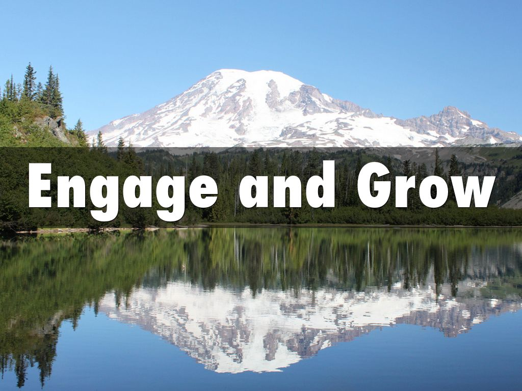 Engage and Grow - A Reflection