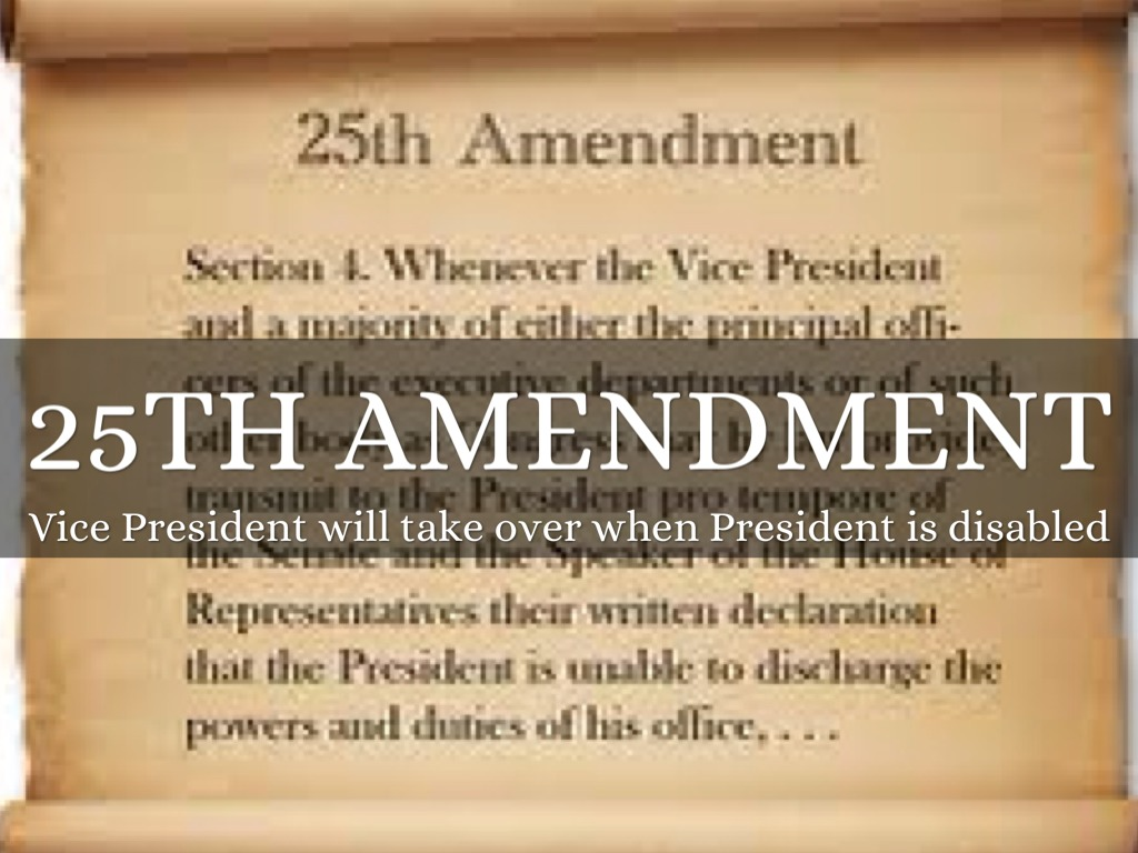 an overview of the key elements of the 25th amendment of the us constitution
