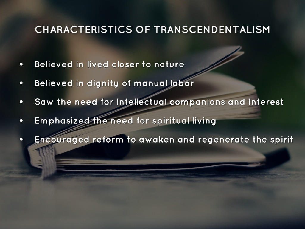 an analysis of the characteristics of transcendentalism a philosophical movement Common themes of transcendentalism  where emerson and his followers differed from earlier philosophical and  it is so central to the movement that.