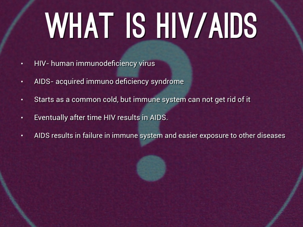 a description of aids acquired immune deficiency syndrome Definition: aids means acquired immune deficiency syndrome it is an acronym that refers to the syndrome caused by hiv aids causes people to have higher susceptibility to dangerous infections, disorders, and cancers.