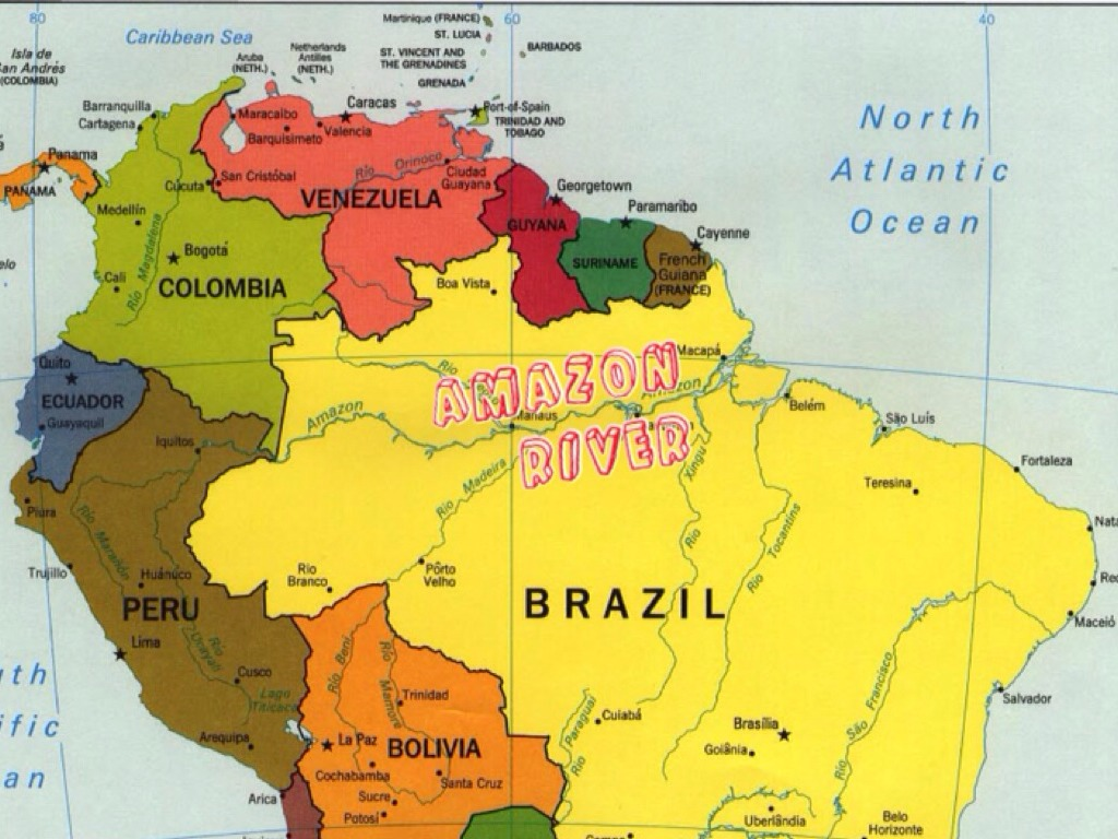 Geography Of Latin America By Alli Barry - Amazon river map