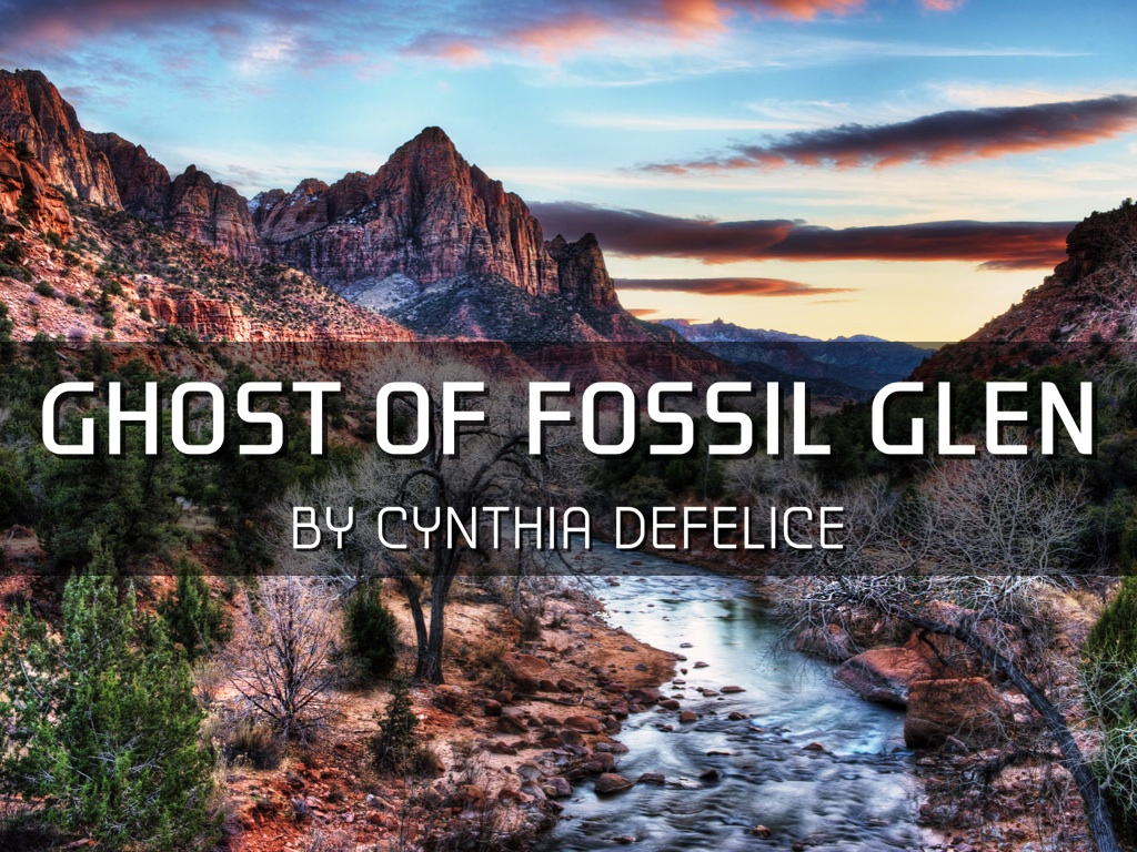 ghost of fossil glen Allie knows it's not her imagination when she hears a voice and sees in her mind's eye the face of a girl who seems to be seeking allie's help.