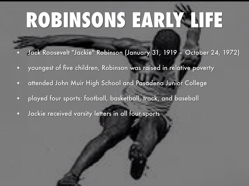 The Life Course Of Jackie Robinson Essay Sample  January   The Life Course Of Jackie Robinson