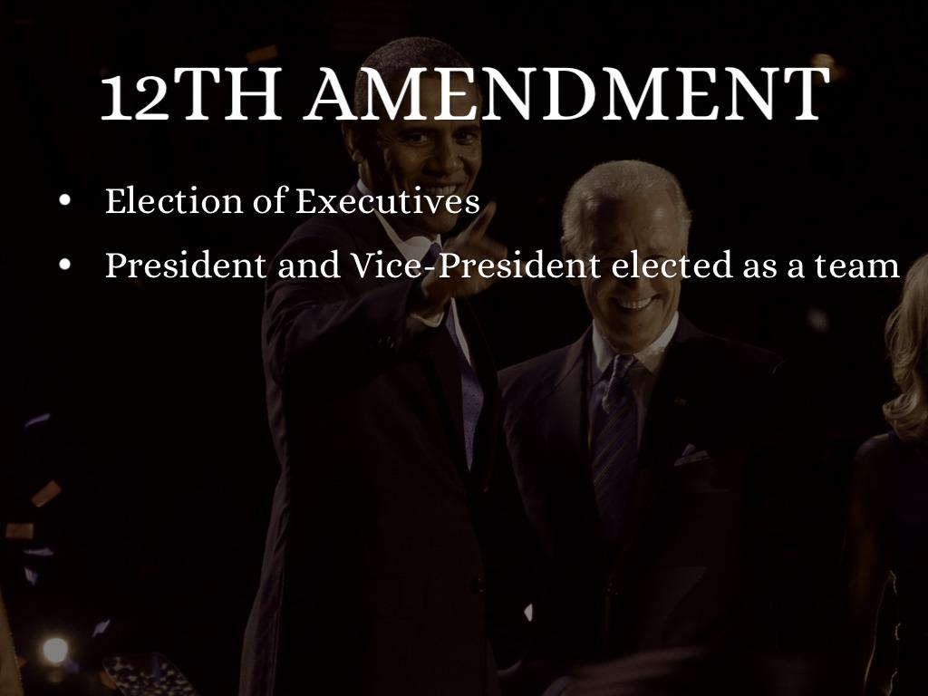 12th amendment