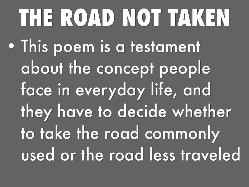 the road not taken poem analysis