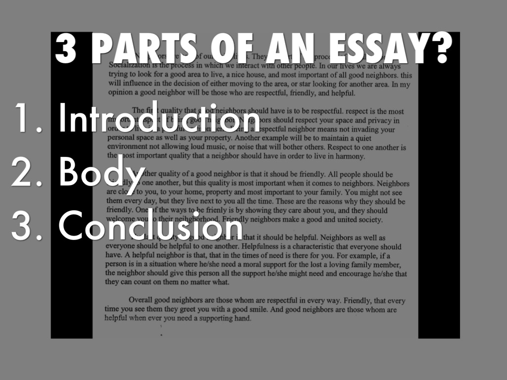 parts to an essay introduction