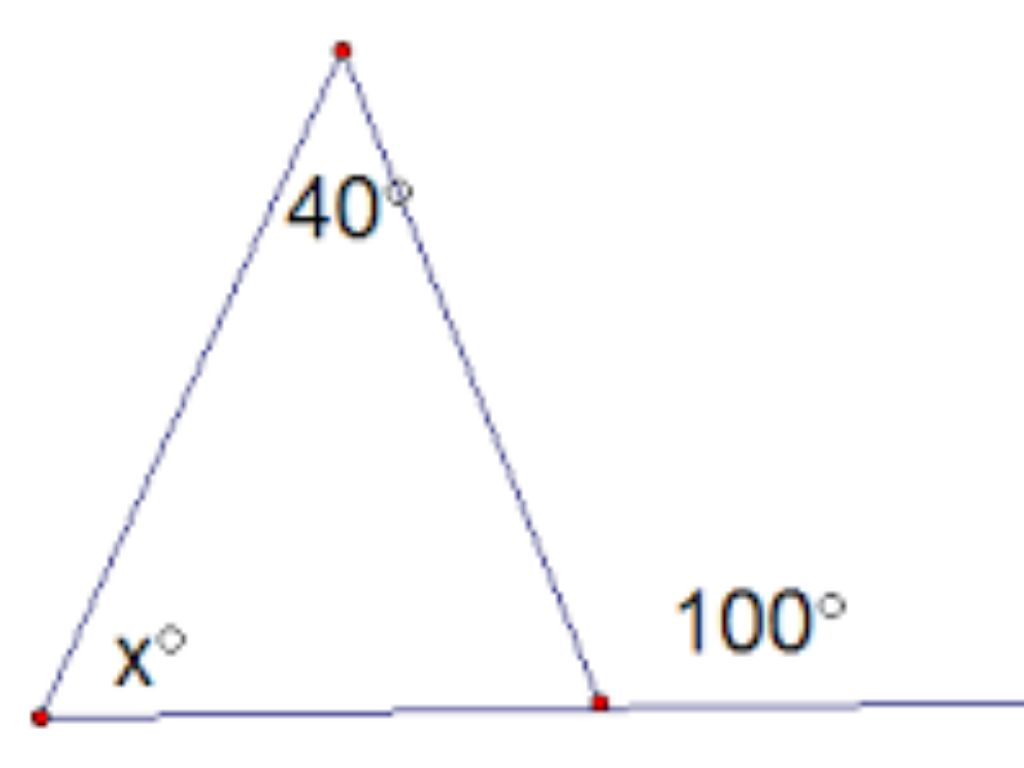 Exterior angles of a triangle by - Sum of the exterior angles of a triangle ...