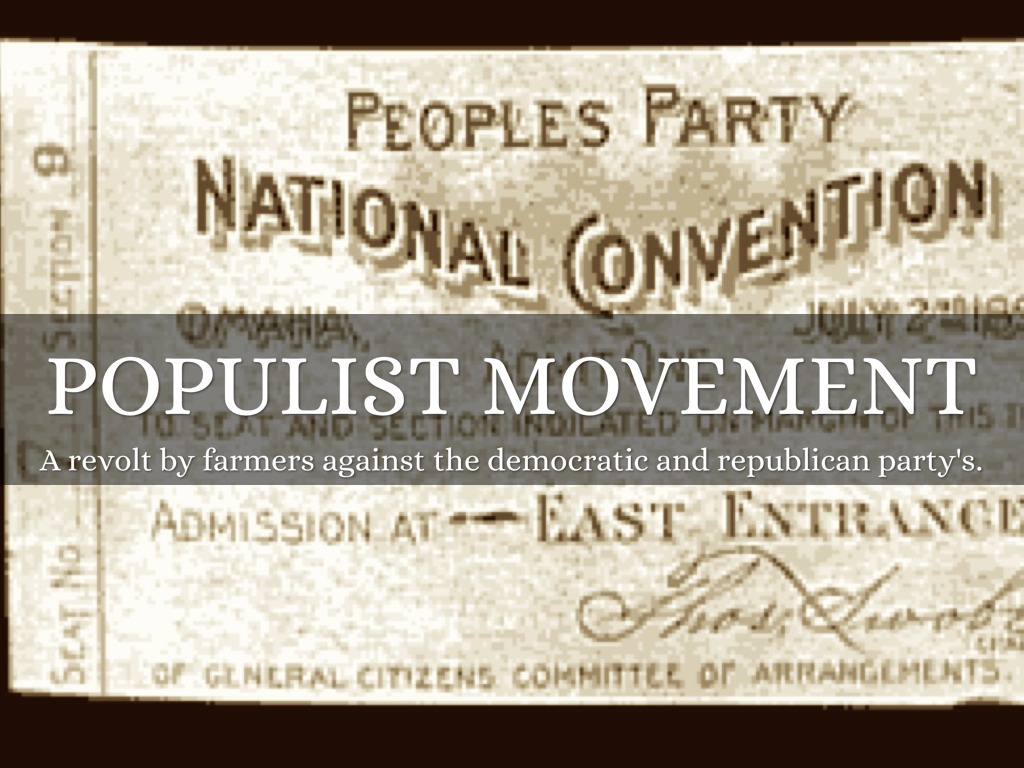 The populist movement the value of Term paper Writing Service ...