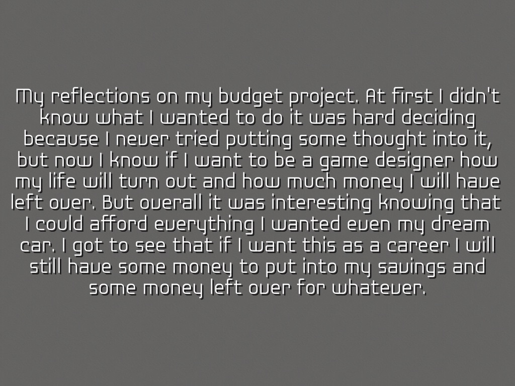 my personal budget project