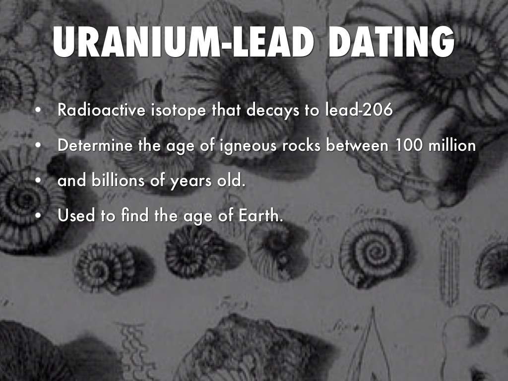 Age of earth uranium lead hookup