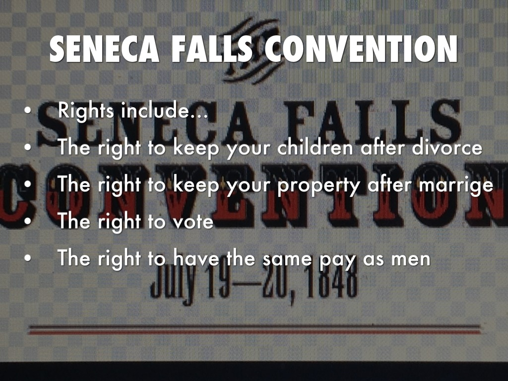 seneca falls convention Discover librarian-selected research resources on seneca falls convention from the questia online library, including full-text online books, academic journals, magazines, newspapers and more.