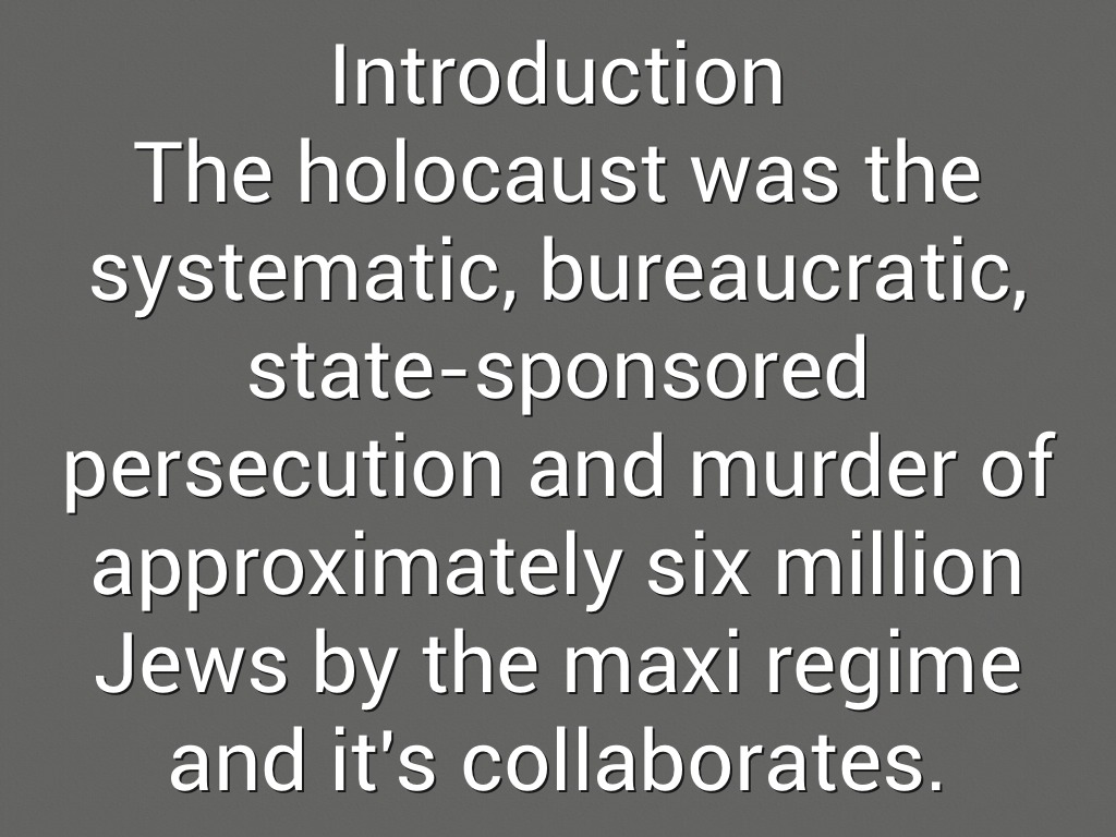 the holocaust systems of persecution