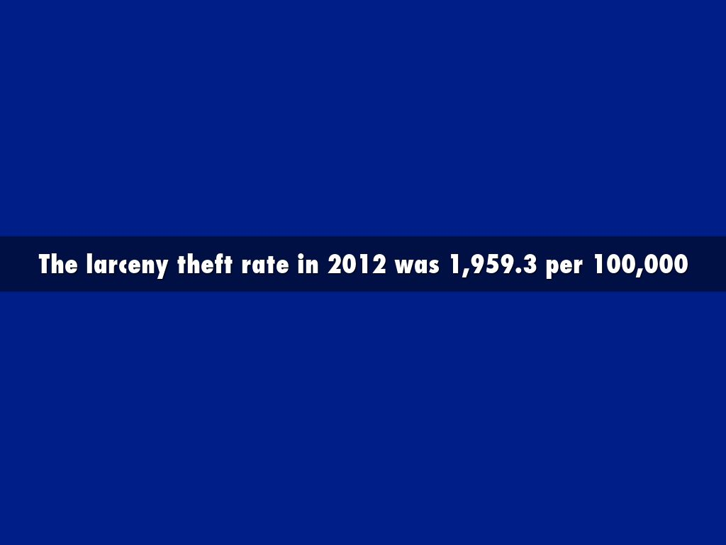 what is larceny theft example