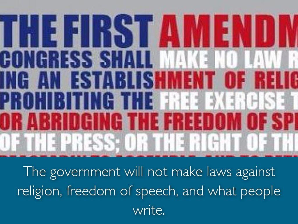 an analysis of first amendment rights