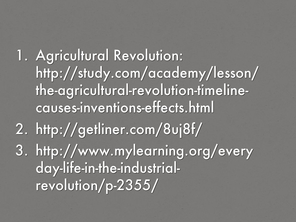 explain the effects of the agricultural revolution and the industrail revolution How can the answer be improved.