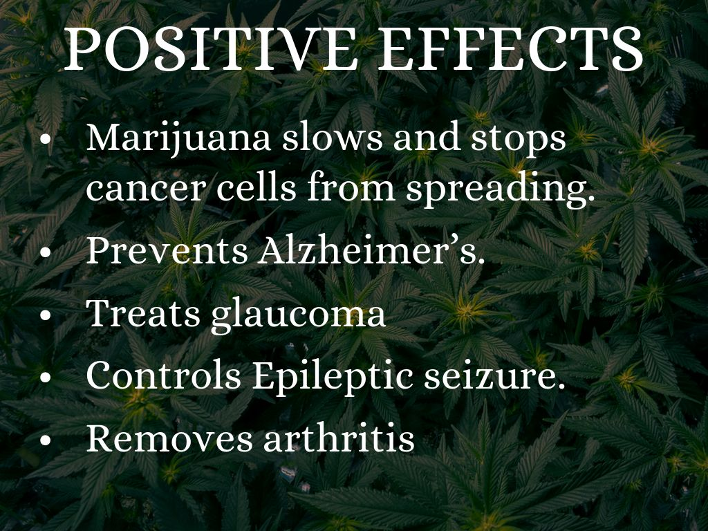 positive negative effects of marijuana The effects of marijuana by donal o'mathuna introduction  many claim these are positive, but a growing list of negative psychiatric effects have been documented.
