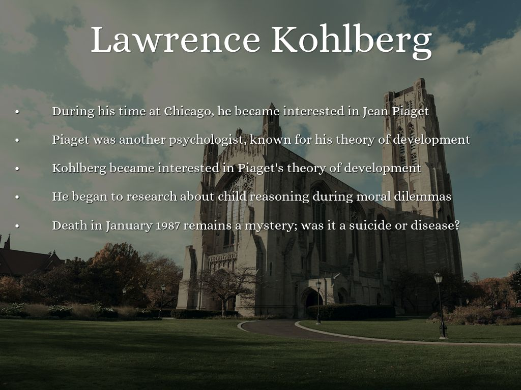 lawrence kohlbergs research on moral development