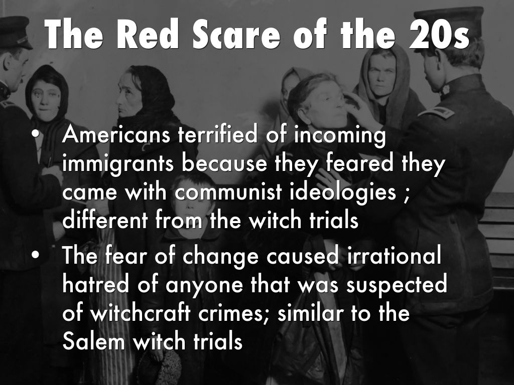 red scare and salem witch trials