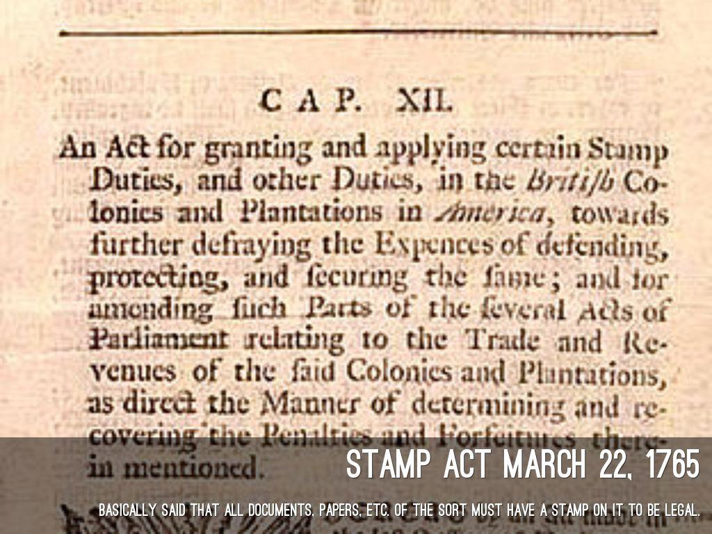 stamp act 1765 summary