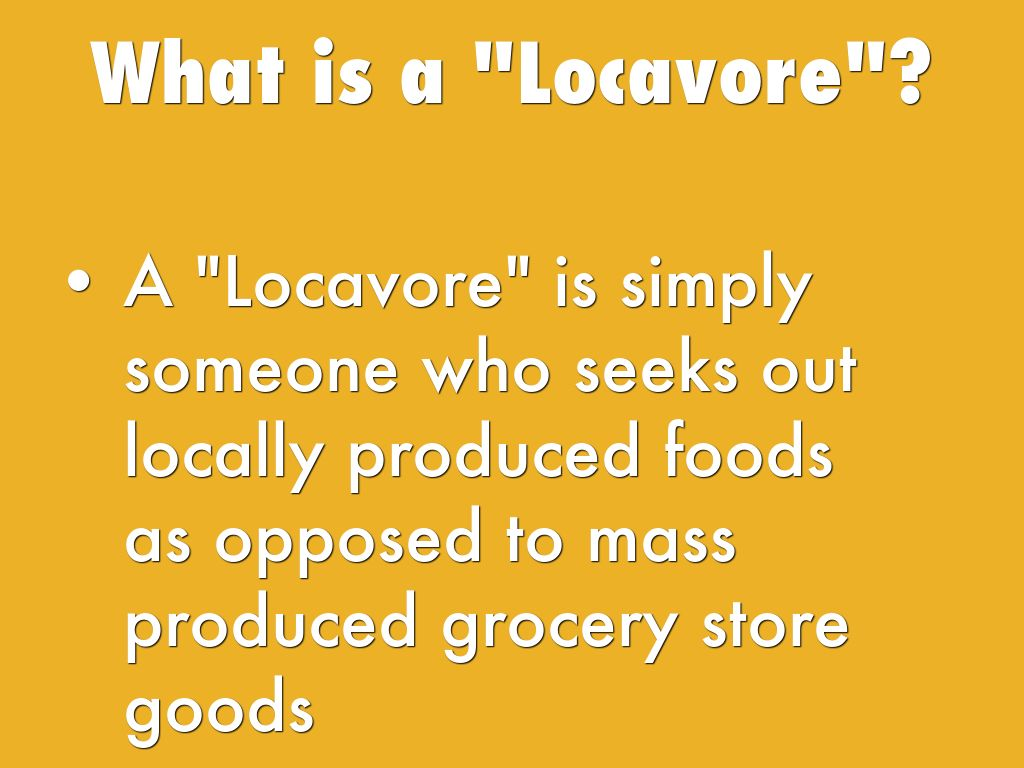 how to become a locavore