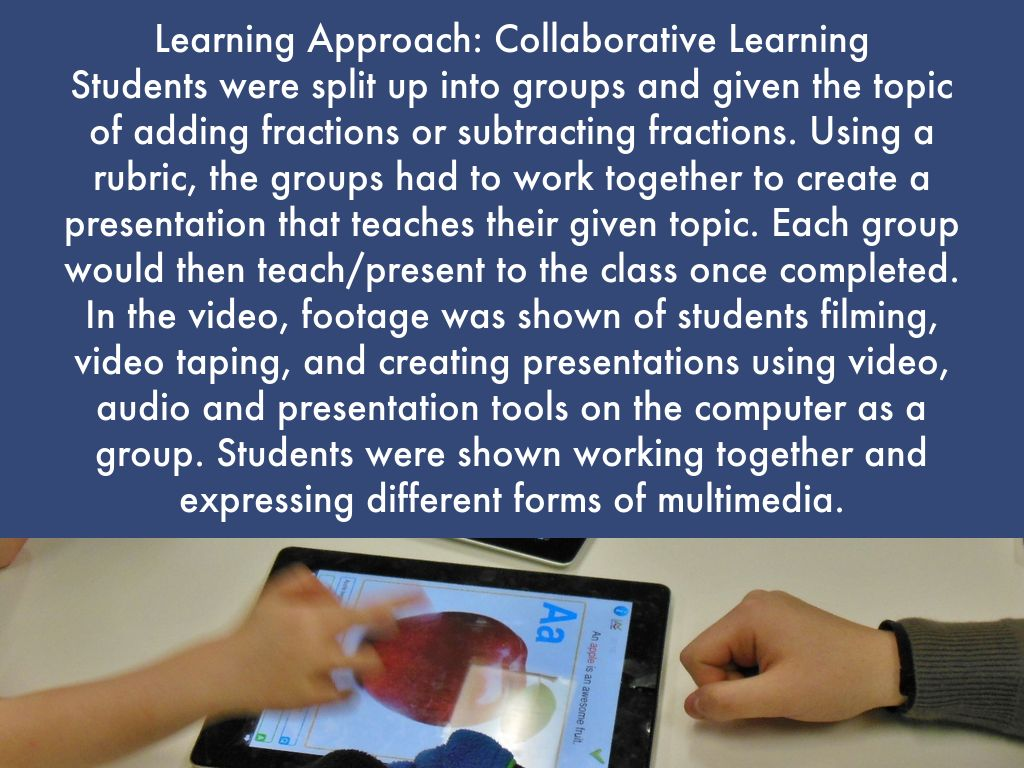 collaborative approaches to learning