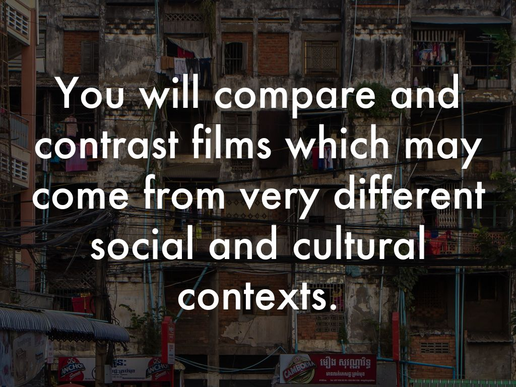 compare and contrast to films from Contrast is perhaps the most significant characteristic of an image recorded on film contrast is the variation in film a comparison of high contrast and medium.