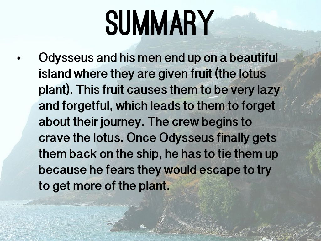 Summary of the lotus eaters in the odyssey