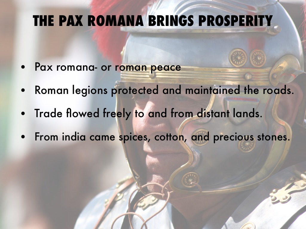 an analysis of the time of peace the pax romana era The pax romana was a period of relative peace, which lasted for approximately 206 years from 27 there are many things threatening peace, from seemingly perpetual unrest in the middle-east to an the beginning time of the hypothetical war will be defined as the time when for the first time at least.